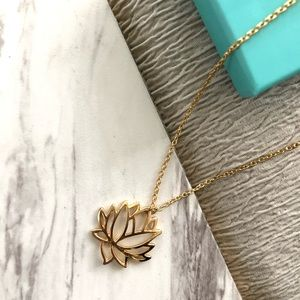 Lotus Gold Charm Necklace
